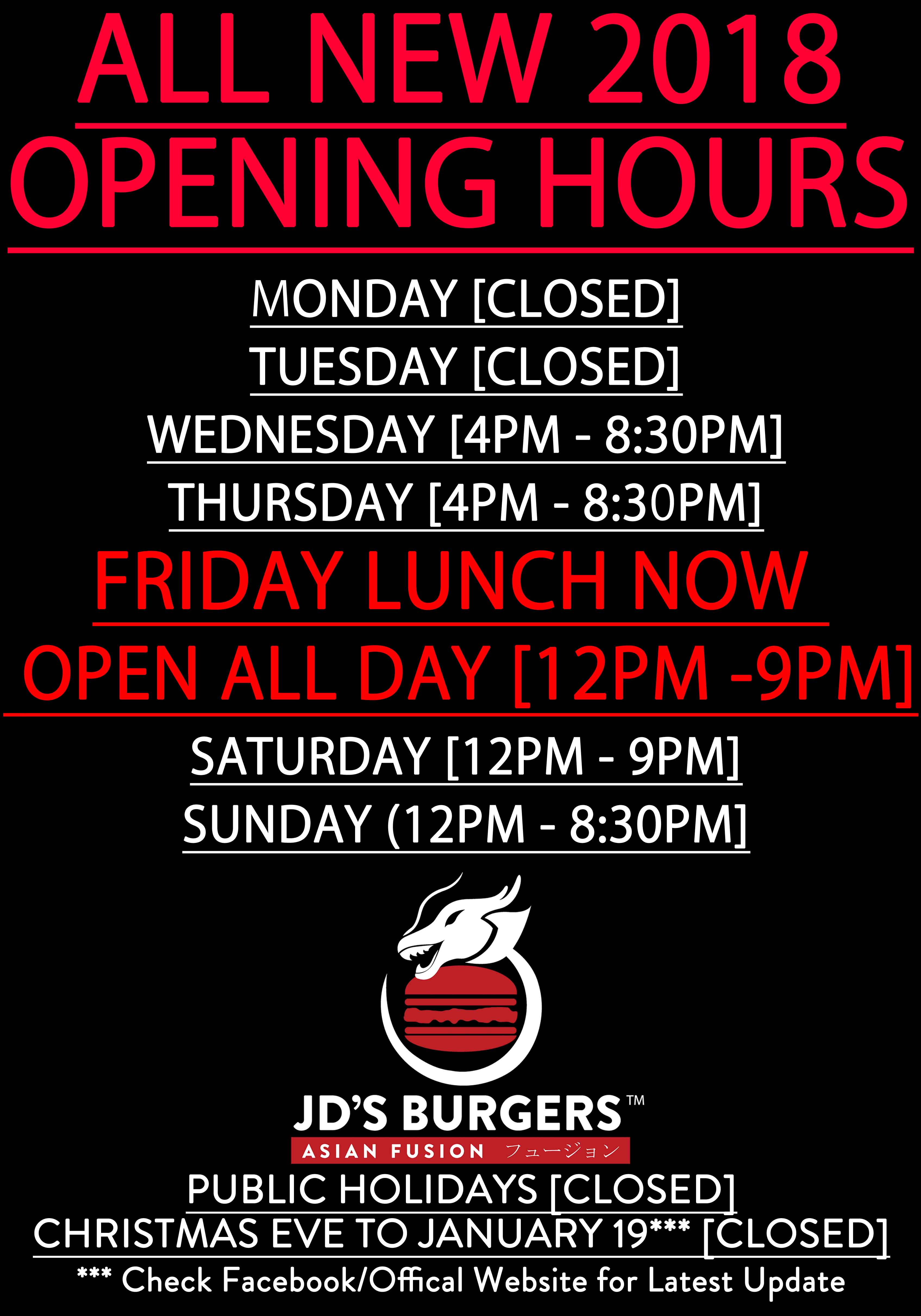 opening hours A3 colour